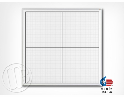 4x4 Dry Erase XY Axis Grid Board