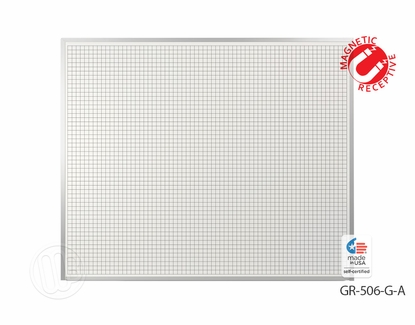 5 x 6 Magnetic Dry Erase Grid Board
