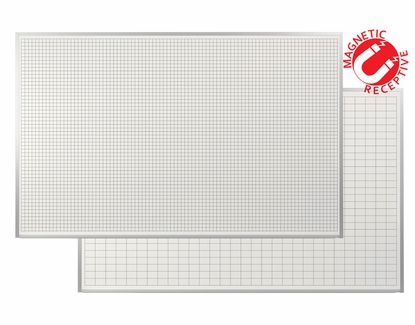 5 x 8 Magnetic Dry Erase Grid Board