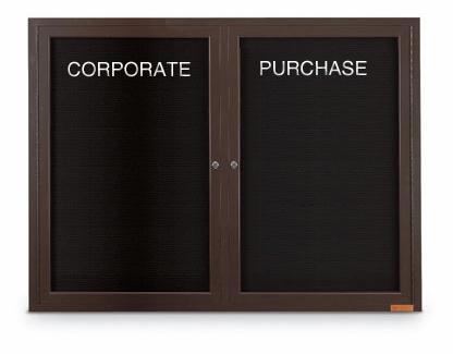 Bronze Indoor Letterboard Cabinet