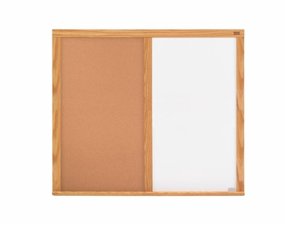 Cork Combination Boards - Wood Frame
