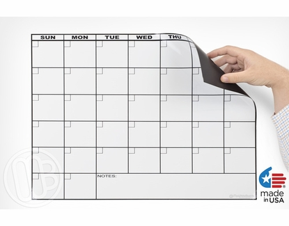 Magnetic Refrigerator Dry Erase Calendar