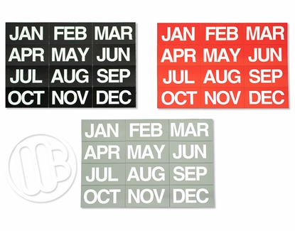 Month Header Magnets