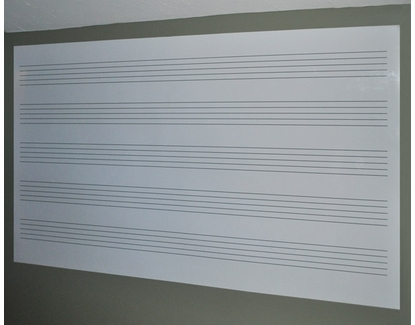 Music Staff Wall Covering