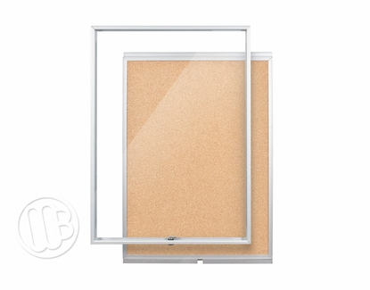 Slim Line Enclosed Bulletin Board
