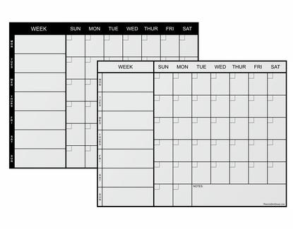 Weekly Magnetic Refrigerator Calendar